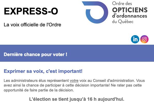 Dernière chance pour voter !