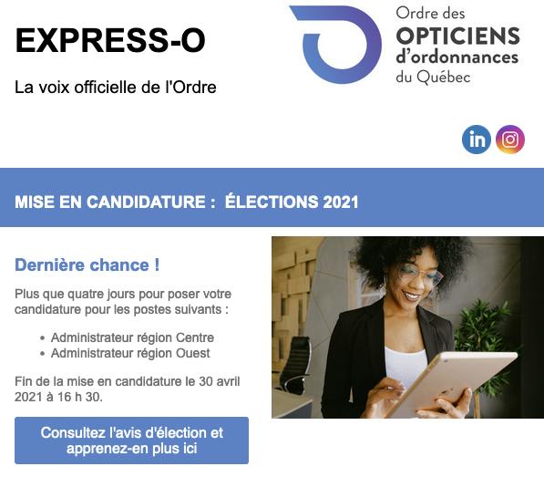 Mise en candidature : Dernière chance pour les élections 2021