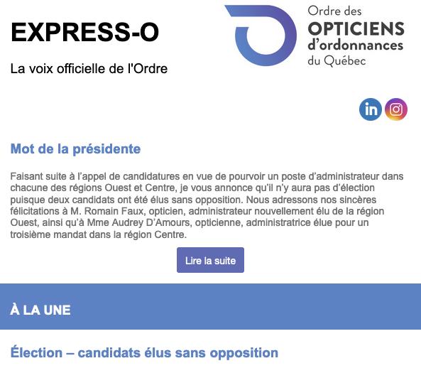 Élections 2021 - Candidats élus sans opposition